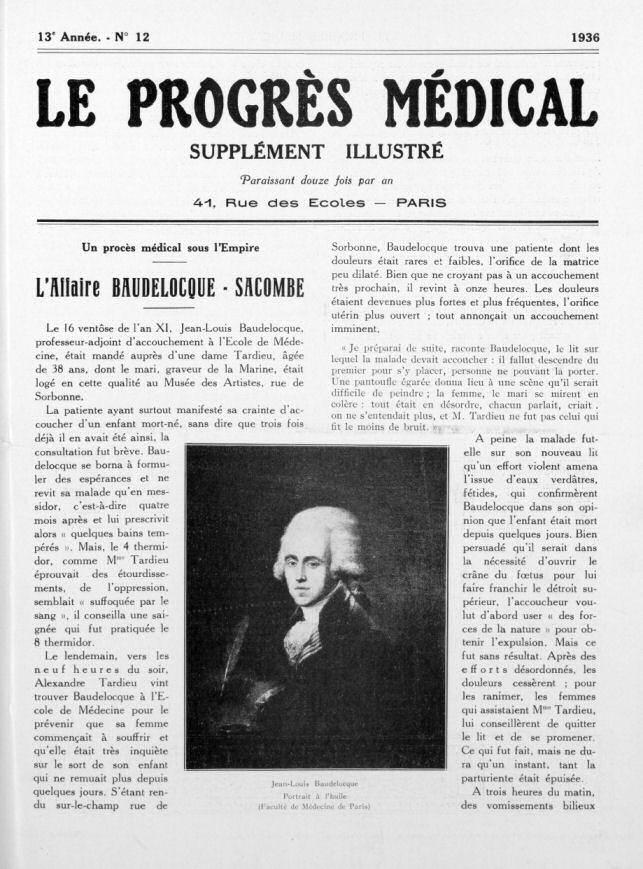 Procès Sacombe Beaudelocque