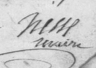1805 Hesse maire de bonnay dans la somme