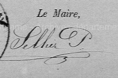 1872 Scellier maire de bonnay SOMME