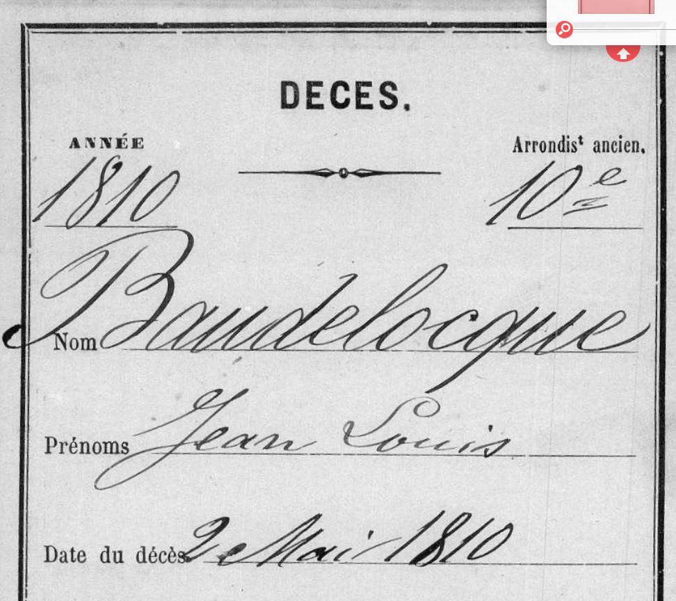 DC JL Baudelocque 1810 Paris