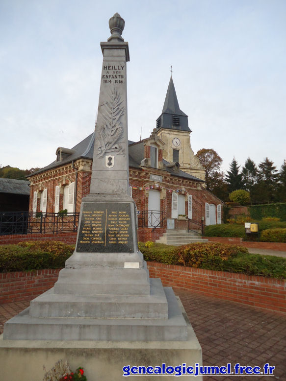 Monument aux mort Heilly 80