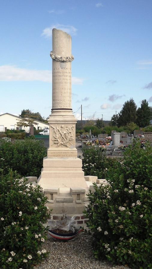 Fouilloy 80800_Monument_aux_Morts_1870 cimetiere