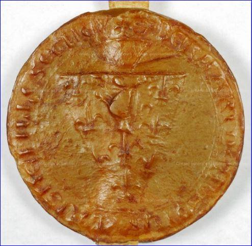 Sceau de Bernard de Moreuil, 1259