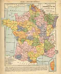 carte de france en 1900