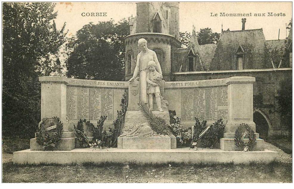 carte-postale-ancienne-80-corbie-le-monument-aux-morts-1928