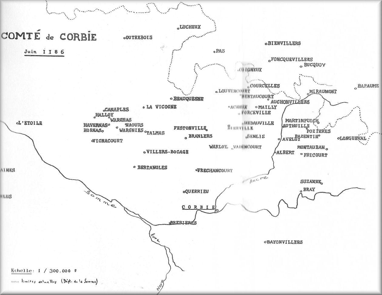 conte de corbie en 1186