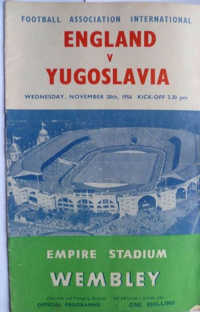 england yugoslavie1956