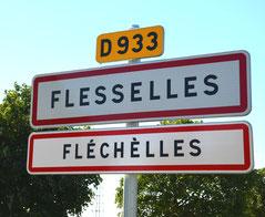 Panneau flesselles dans la Somme en Picard