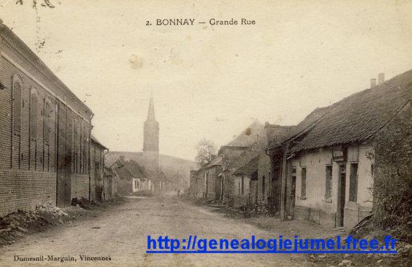 Grande rue à Bonnay 80