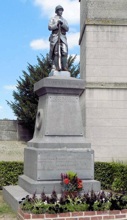 monument aux morts fouilloy Somme 14 18