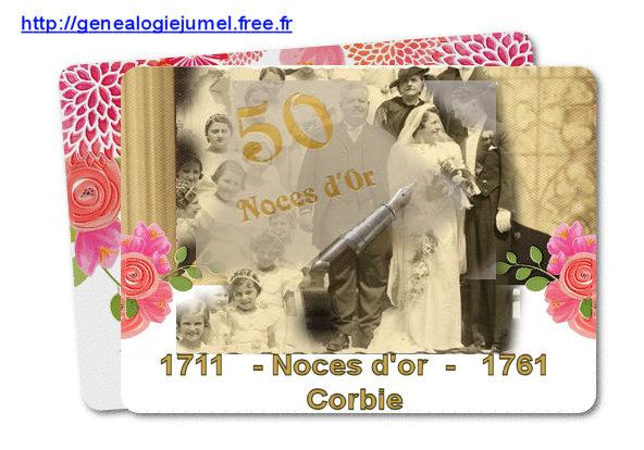noce d or corbie1761