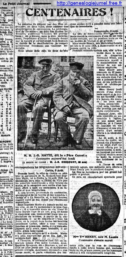 petit journal  aout 1908