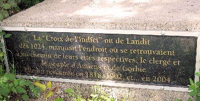 plaque croix lendit daours
