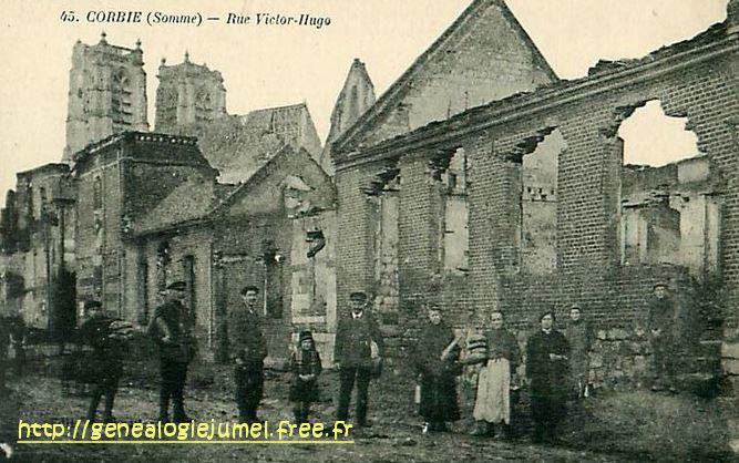 rue victor hugo corbie 1918 2