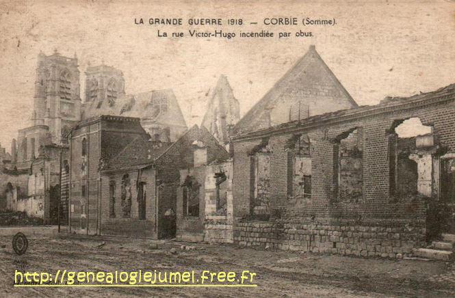 rue victor hugo corbie 1918