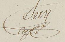 Signature de Clement sery